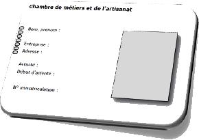carte d identité d une entreprise Une carte d'identité pour l'entreprise artisanale   [ Site d